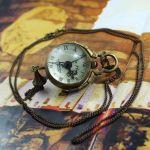 Медные часы на цепочке скелетоны 1882 год