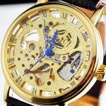 Часы с открытым механизмом унисекс