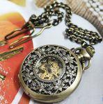 Античные часы на цепочке. Часы скелетоны