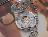 Серебристые карманные часы. Античные часы