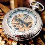 Серебрянные карманные часы скелетоны