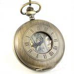 Мужские карманные часы золотой скелетон