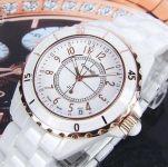Женские керамические часы Chanel J12 Gold