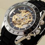 Мужские часы скелетоны в спортивном стиле
