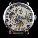 Часы скелетоны в стиле Patek Philippe с кристаллами