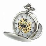 Классические серебряные карманные часы