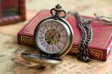Механические карманные часы на цепочке