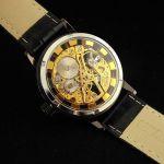 Механические часы скелетоны Gold
