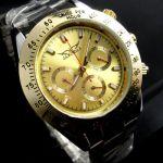 Наручные часы с золотым циферблатом в стиле Rolex