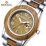 Деревянные наручные часы РЕТРО с датой