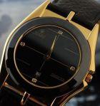 Точная копия ультратонких часов Rolex black