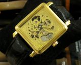 АКЦИЯ! Золотые часы скелетоны для мужчин