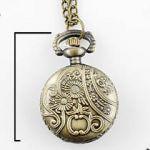 АКЦИЯ! Кварцевые часы кулон с цветочным орнаментом