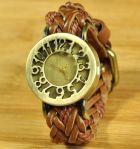 Оригинальные наручные часы с кожаным ремешком