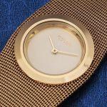 Женский металлический браслет с часами
