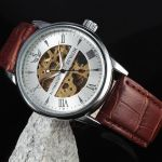 Мужские часы скелетоны с автоподзаводом 0465